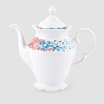 Imbryk Blue Dots, 900 ml, porcelana Kristoff